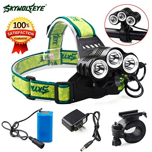 Flashlight,Baomabao Rehargeable 12000 Lm 3 x CREE XML T6 LED Bicycle Head Light 18650 Headlamp Torch (Zoom Energy Pack compare prices)