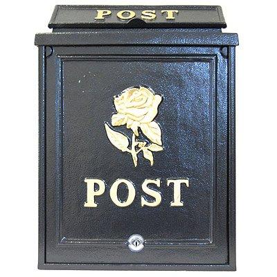 ARBORIA GARDEN DECOR MAIL BOX BLACK