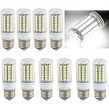 SODIAL (R)10 x E27 8W 69 LEDs 5050 SMD Ampoule Lampe Spot Mais Light Blanc 6500K 500LM =60W