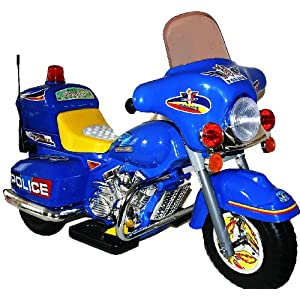 LARGE KIDS RIDE ON DELUXE RECHARGEABLE BLUE MOTORBIKE