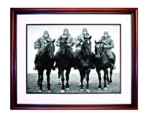 NCAA Notre Dame 1924 Notre Dame Football Team Four Horsemen Framed Photograph by Steiner Sports
