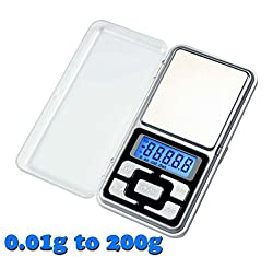 Gadget Hero'sTM Digital Gold Weighing Scale 0.01g to 200g. Displays Units in G, OZ, TL, CT. GN With Tare.