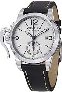 Graham Chronofighter 1695 Men's Silver Dial Automatic Chronograph Watch 2CXAS.S02A