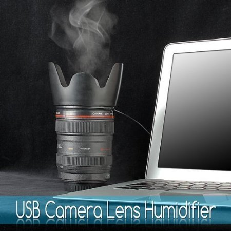 Camera Lens Tumbler, USB Desktop Portable Lens Humidifier - 1