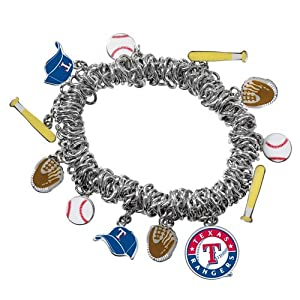 Game Time 101494 MLB Texas Rangers Stretch Bracelet by Game Time