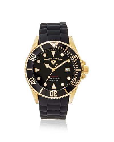 Swiss Legend Men's 21344-YG-01 Luminous Black Silicone Watch