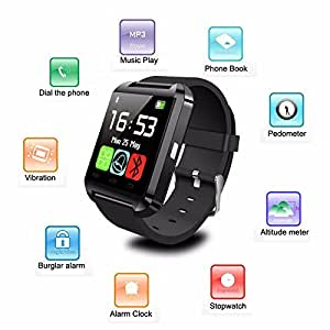 Link Plus U8 Smartwatch with Digital Touch Screen, Outdoor, Sports, Fitness For Micromax Canvas Selfie 2