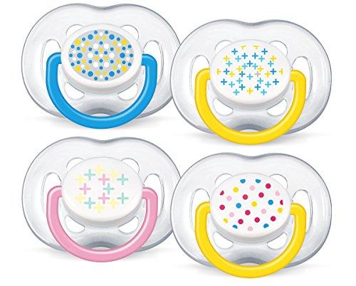 Philips Avent SCF170/24 - Succhietti Freeflow per bambini da 6 a 18 mesi, 2 pz [colori assortiti]