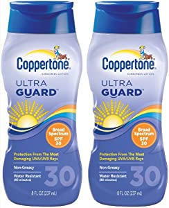 Coppertone ultraGUARD Lotion SPF 30 Sunscreen-8 oz, 2 pack