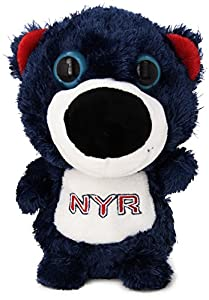 NHL New York Rangers Direct Embroidered Big Eye Bear, Navy, 8-Inch
