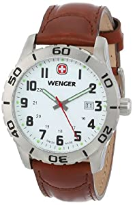 Wenger Men's 741.101 Analog Swiss-Quartz Brown Watch