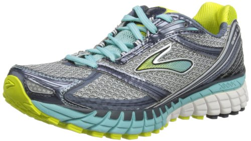Brooks Womens Ghost 6 Wide W Running Shoes 1201381D620 Silver/Sulphurspring/Midnight/Denim/Aquahaze/White 5 UK, 38.5 EU, 7 US Wide