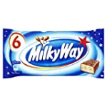 Milky Way Milk Chocolate Bar, 6 x 21.5g