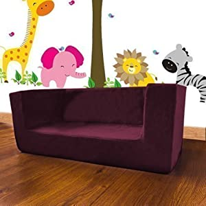 Shopisfy Children's Double Foam Mini Sofa Seat - Purple by Shopisfy