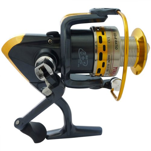Super Fishing Bass Spinning Reel New Mirror Blue R10