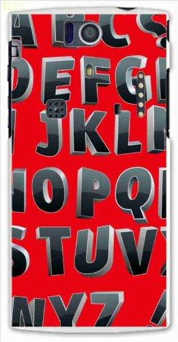 sslink KYL21 DIGNO S ハードケース y047_c アルファベット ロゴ メタリック スマホ ケース スマートフォン カバー カスタム ジャケット au