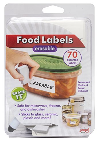Jokari Label Once Erasable Food Labels with Markers (Food Dry Freezer compare prices)