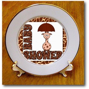 Giraffe Baby Shower Plates