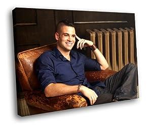 HJ1531 Mark Salling Hot Actor Singer 16x12 FRAMED CANVAS PRINT