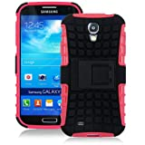 JKase DIABLO Series Tough Rugged Dual Layer Protection Case Cover with Build in Stand for Samsung Galaxy S4 SIV I9500 - Retail Packaging (Pink)