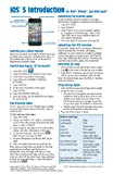 iOS 5 Introduction Quick Reference Guide: for iPad, iPhone, and iPod touch (Cheat Sheet of Instructions, Tips & Shortcuts - Laminated Guide)