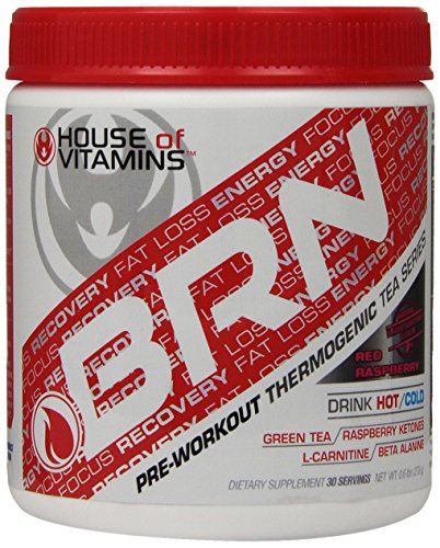 House of Vitamins BRN, Pre Workout Thermogenic Fat Burner, Red Raspberry, 402 Gram