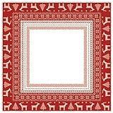 Centre de table gamme intissèe Helene Rouge 80 x 80 cm semblable à un tissus Matériel