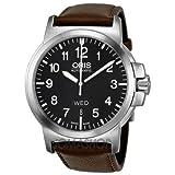 Oris BC 3 Black Dial Brown Leather Mens Watch 735-7641-4164LS