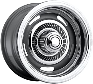 Vision Rally 15 Silver Wheel / Rim 5×4.75 with a 0mm Offset and a 81.7 Hub Bore. Partnumber 55-5461