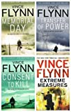Vince Flynn Vince Flynn Collection: 4 books: (Extreme Measures / Transfer of Power / Consent to Kill / Memorial Day £27.96)