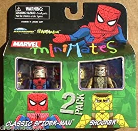 Marvel MiniMates Series 24 Mini Figure 2-Pack Classic Spider-Man and ...