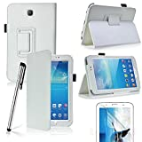 HOTSALEUK Samsung Galaxy Tab 3 7.0 7-inch Leather Case Cover and Flip Stand, Bonus: Screen Protector + Stylus Pen (for Galaxy Tab 3 7