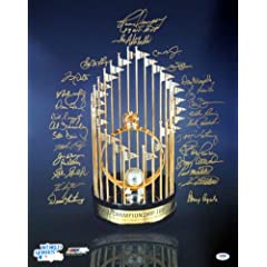 1983 Baltimore Orioles Team Signed Autographed 16x20 Trophy Photo (28 Signatures)...