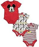"Mickey Mouse Baby Boys' ""Velvet Trim"" 3-Pack Bodysuits"