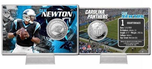 Cam Newton 2013 Silver Coin Card