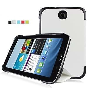 IVSO® Samsung Galaxy Note 8.0 GT-N5100/N5110 Smart Cover Leder Hülle Case Folio Tasche Cover mit Ständer & Auto Sleep und Wake UP Funktion für Samsung Galaxy Note 8.0 GT-N5100/N5110 Tablet PC (Weiß)