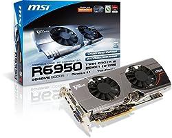 MSI Radeon HD 6950 2 GB GDDR5 2DVI/HDMI/2xMini DisplayPort PCI-Express Video Card R6950 TWIN FROZR III PE OC
