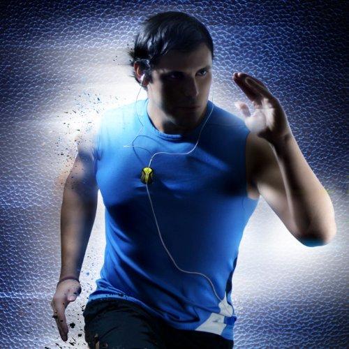 SP917:あらゆるスポーツに最適、ケーブルもイヤホンも固定できるイヤホンホルダ『Klingg for earphone』ブラック×ピンク