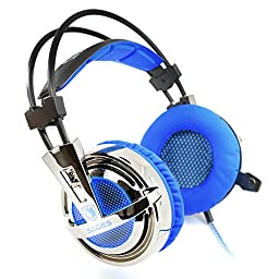 Dland Sades AW3 USB PC Gaming Headset 7.1 Surround Sound Stereo Gaming Headphones With a Vibrate Function And High Sensitivity Microphone Volume Control Breathing LED Lights for PC Gamer