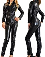 Forever Young Ladies Lycra Spandex Bodysuit Catsuit Dress PVC Catsuit Hen Party Costume Outfit
