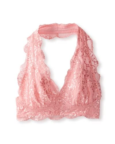 TART Collections Women's Powder Puff Lace Halter Bralette