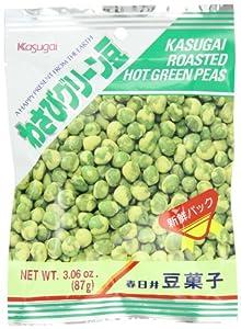 Kasugai Roasted Hot Green Wasabi Mame (Green Peas), 3.06 Ounce Units (Pack of 20)