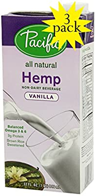 Pacific All Natural Vanilla Hemp Non-dairy Beverage 3-pack from Pacific Foods