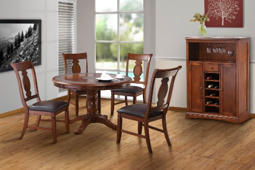 sonoma 5pc tile top wood dining room set dining table wood