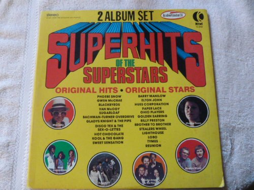 K-Tel's Superhits (New Never Opened) (Super Hits) of The Superstars (Super Stars) Original... by Sugarloaf, Sweet Sensation Barry Manilow, Blackbyrds, Phoebe Snow Gladys Knight & The Pips, Gwen McCrae, Ohio Players Hot Chocolate, Brother to Brother, Hues Corporation Golden Earring and The Sex-O-Lettes Disco Tex