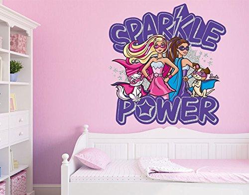 Klebefieber DS 1024-B Wandtattoo Barbie Sparkle Power B x H: 70cm x 73cm (erhältlich in 10 Größen) günstig online kaufen