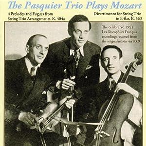 The Pasquier Trio Plays Mozart