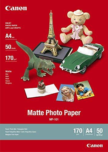 Carta MP-101 A4 Matte Photo Paper. Opaca Per Stampa Fotografica. Confezione Da 50 Fogli, Formato A4.