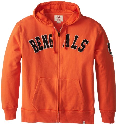 Nfl Cincinnati Bengals Men'S Striker Full Zip Jacket, Large, Carrot front-926001