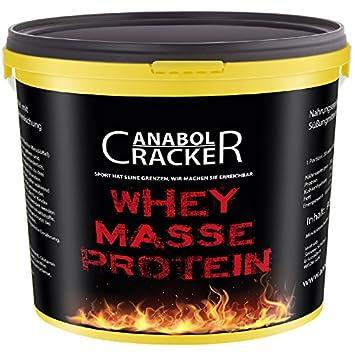 Whey Masse Protein, 900g Pulver, Himbeere oder Plätzchen Geschmack, Eiweißshake, Glutamin Aminosäuren (Himbeer-Eis)